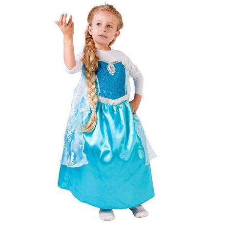 Fantasia Frozen Elsa Infantil Vestido Original Disney Rubies 1030