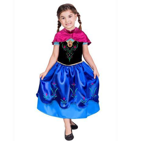 8d497fae0eb42d Fantasia Frozen - Princesa Anna - Clássica - Infantil - Rubies