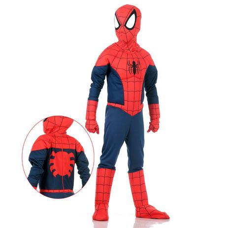 Imagem de Fantasia Homem Aranha com Peitoral Infantil - Premium - Marvel