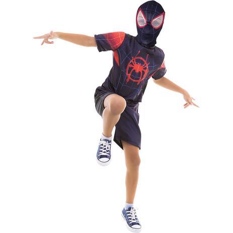12cd7ae38fd762 Fantasia Homem Aranha No Aranhaverso Infantil Filme Spiderman Roupa Curta  Clássica Marvel - Global fantasias