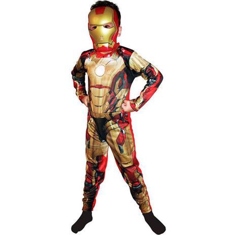 322991f1fa3bb Fantasia Homem De Ferro 3   Iron Man Infantil Luxo - Rubies ...