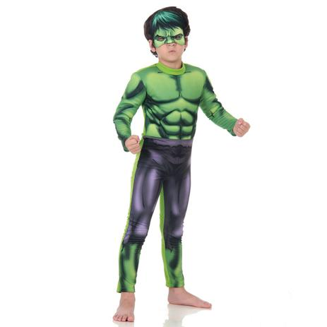 fantasia hulk infantil premium vingadores animated fantasias