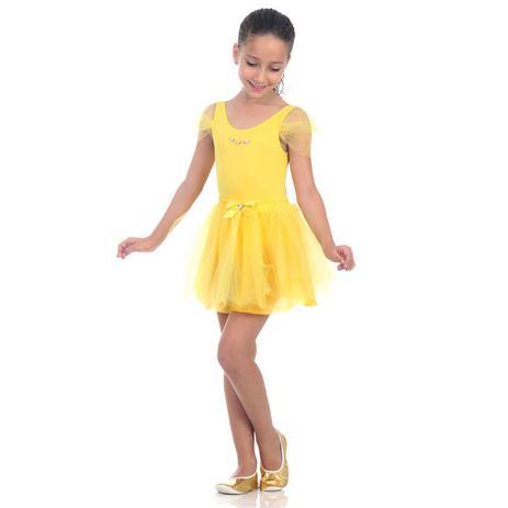 cb2536bd7f35c Fantasia Infantil Bailarina Amarela - Era uma vez - Fantasia ...