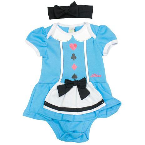 Menor Preço Em Fantasia Infantil Body Vestido Princesas Alice Disney