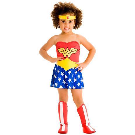 Imagem de Fantasia Infantil - Mulher Maravilha Bebê - Tamanho P (1 ano) - 22061 - Sulamericana
