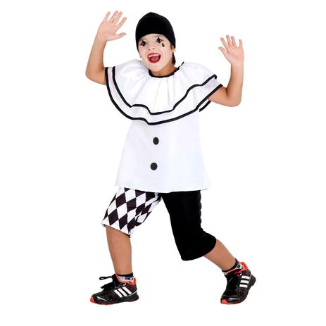 ea65e78402a7d Fantasia Infantil Pierrot Verão - Circo - Fantasia Infantil ...