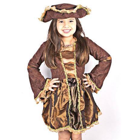 d39e10960c8b7c Fantasia Infantil Vestido de Pirata - Aluá festas