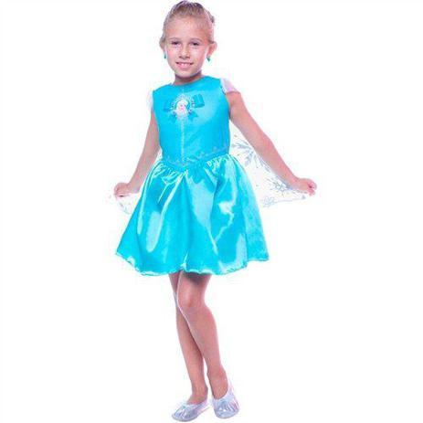 Fantasia Infantil Vestido Frozen Elsa 3 à 12 Anos Regina