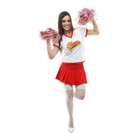 6c774b389 Fantasia Líder De Torcida Cheerleader Adulto Feminino - Jade fashion ...