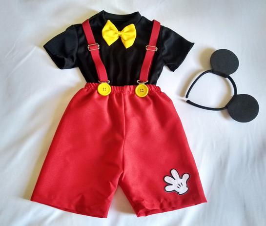 1c2012fa9741f7 Fantasia Mickey Mágico + Mickey Baby Infantil