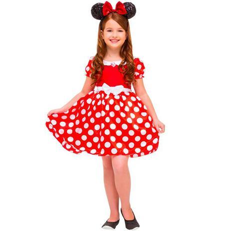 f04081b05fb4e Fantasia Minnie Vermelha de Luxo Infantil Original Disney - Rubies ...