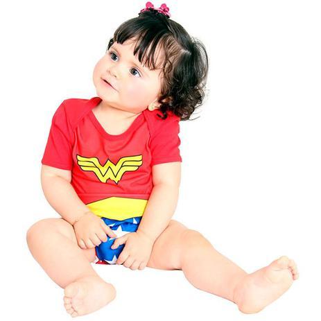 Imagem de Fantasia Mulher Maravilha Bebe Body Sulamericanas