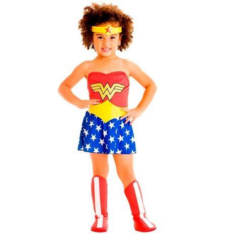 Imagem de Fantasia Mulher Maravilha Infantil Bebe Sulamericana