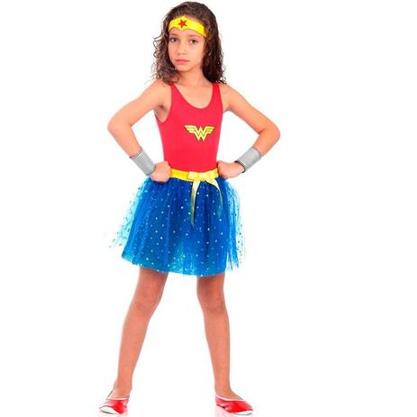 Fantasia Mulher Maravilha Infantil Dress Up Sulamericana