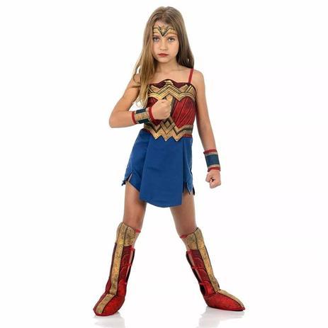 Imagem de Fantasia Mulher Maravilha Infantil Luxo - Batman vs Superman