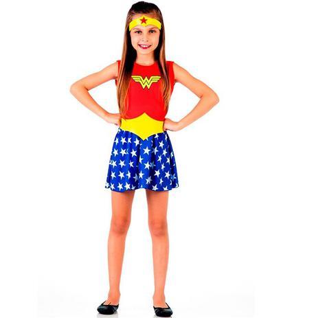 Imagem de Fantasia Mulher Maravilha Infantil Pop