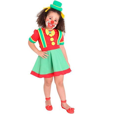 Imagem de Fantasia Patata Feminina infantil Luxo Palhacinha Para Menina