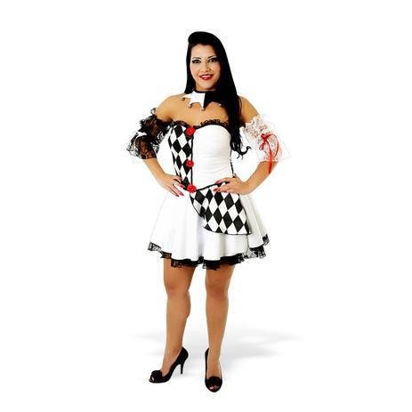 fe019179ea833 Fantasia Pierrot Branco - Heat Girls - Circo - Fantasias - Magazine ...