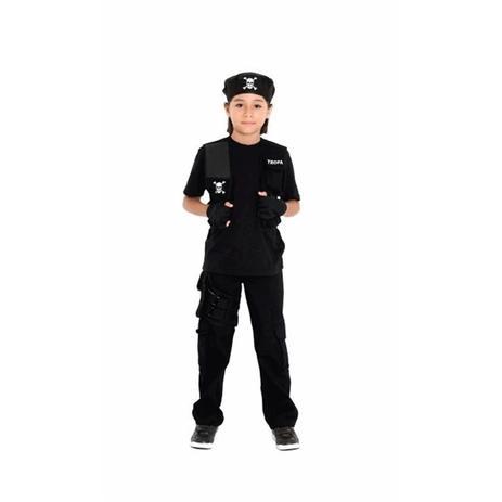 Fantasia Policial Infantil Menino Tropa Completa Com Boina - Sulamericana aac3296a8da