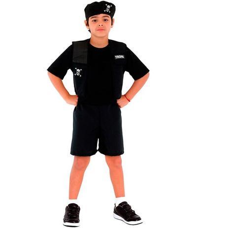 Fantasia Policial Tropa Infantil Pop Com Boina - Sulamericana ... 9c1b758452f
