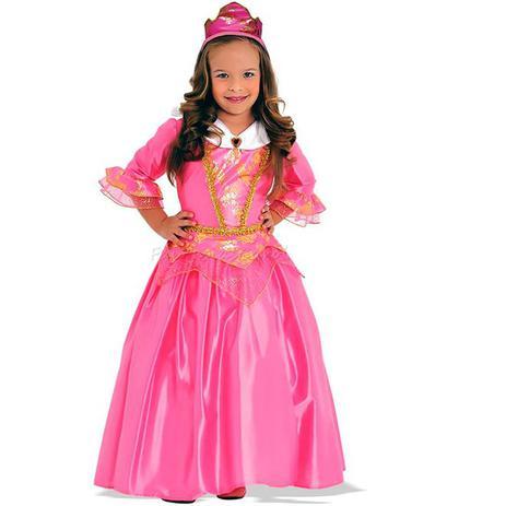 Imagem de Fantasia Princesa Rosa Infantil Luxo Sulamericana