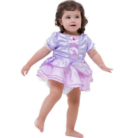 Fantasia Princesa Sofia Luxo Baby 1 A 2 Anos Rubies Fantasias