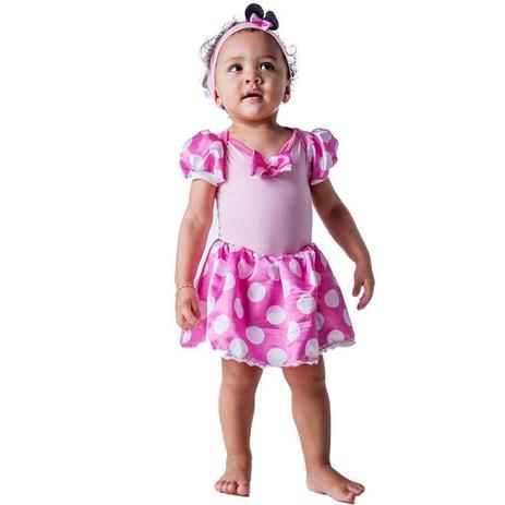 23c0f3efb5ea3b Fantasia Ratinha Minnie Mouse Rosa Bebê Com Faixa 3 a 18 meses - Fantasias  carol fsp