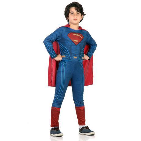 Imagem de Fantasia Super Homem Standard - Batman X Super Homem Sulamer Tamanho:M 5-8 anos