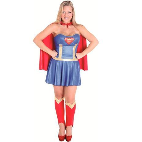 198bef34c Fantasia Super Mulher Adulto de Luxo Completa Com Capa Sulamericana