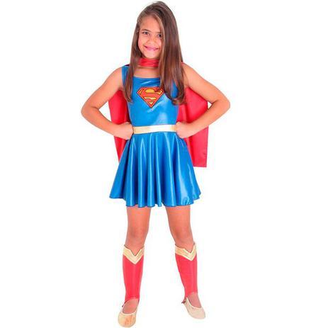 Imagem de Fantasia Super Mulher Infantil SuperMan