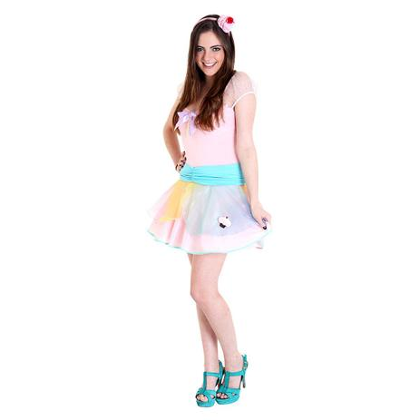 319fe55a7f45a2 Menor preço em Fantasia Teen Cupcake - Heat girls