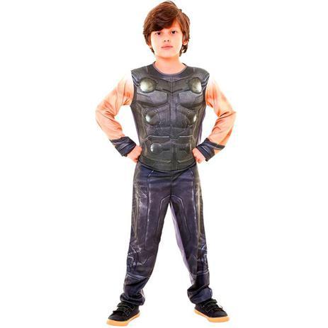 e5c29686598bff Fantasia Thor Luxo Com Músculos Infantil Guerra Infinita Vingadores Marvel  - Rubies