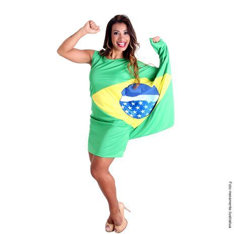 4913fb894852 Fantasia Vestido Bandeira Brasil - Países