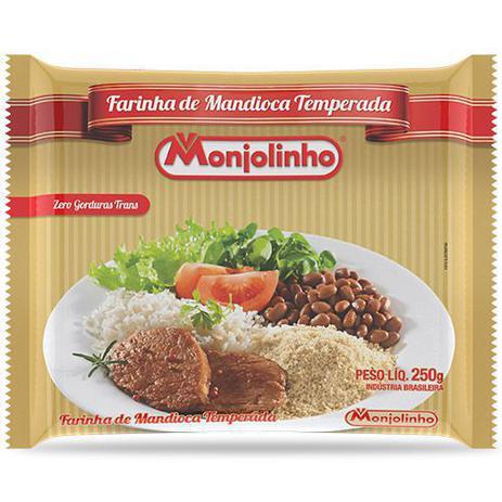 Imagem de Farofa de mandioca temperada tradicional monjolinho 250g