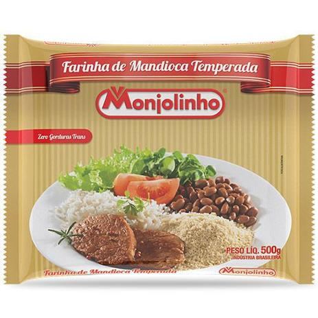 Imagem de Farofa de mandioca temperada tradicional monjolinho  500g