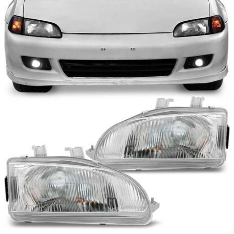 Farol Honda Civic Hatch Sedan 92 93 94 95 Foco Simples   Depo