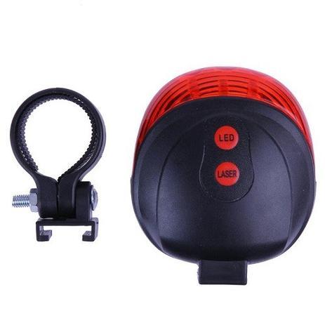 Imagem de Farol Lanterna Traseira Bike Com Ciclovia Laser Sinalizador E Farol De Led Vermelho DW-681