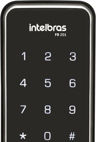 Imagem de Fechadura Digital Intelbras Fr201 Touch Screen Senha Cartão