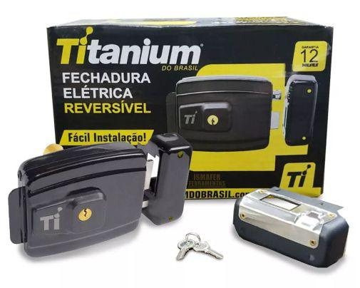 Imagem de Fechadura Elétrica Reversível Titanium