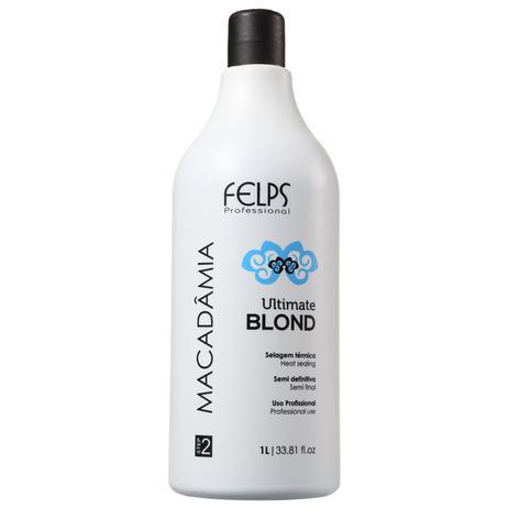 Imagem de Felps Profissional Macadâmia Ultimate Blonde - Selagem Térmica 1000ml