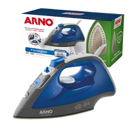 Imagem de Ferro a vapor Arno Forcegliss FFC1 Base Cerâmica 1520w Azul 220v