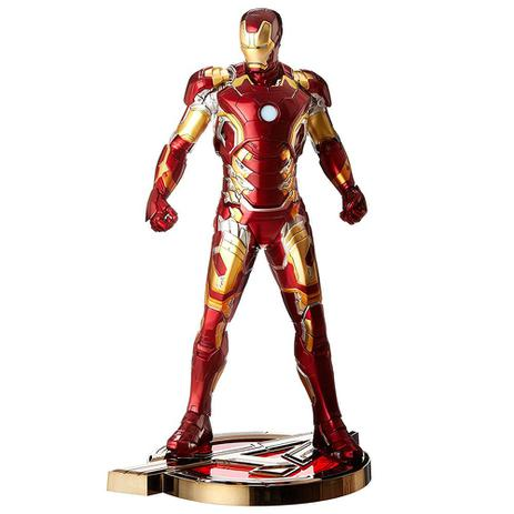 27264c7d8b4 Figura Colecionável 28 Cm - Disney - Marvel - Age Of Ultron - Iron Man Mark  XLIII - Iron Studios