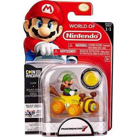 Imagem de Figura Miniatura: Super Luigi Kart - World Of Nintendo - Dtc