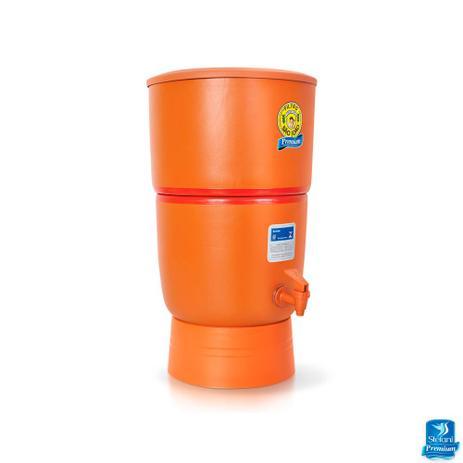 Imagem de Filtro de Água de Barro Purificador São João com 3 Velas - 8 Litros Premium