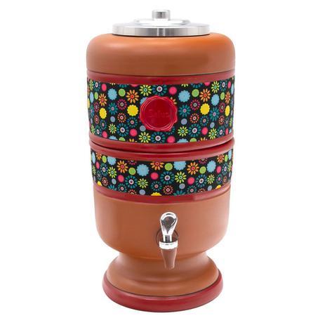 Imagem de Filtro de Água De Barro Tex Flor com Vela 4l - Salus