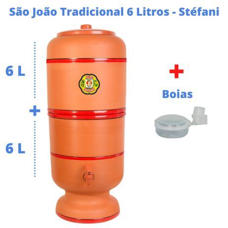 Imagem de Filtro de Barro para Água São João Tradicional 6 Litros 1 Vela + Boia - Cerâmica Stéfani