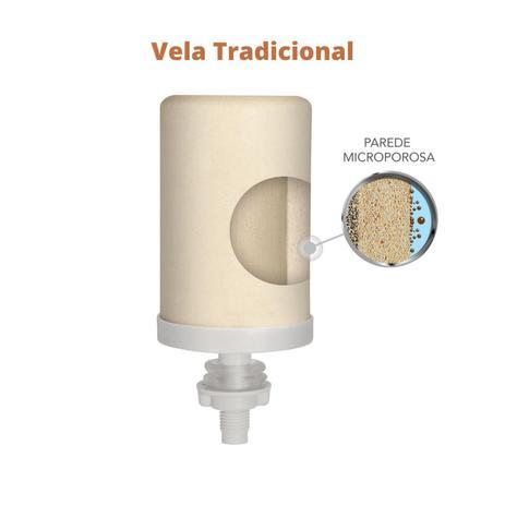 Imagem de Filtro de Barro para água São Pedro 4 Litros com 1 Vela e 1 Boia