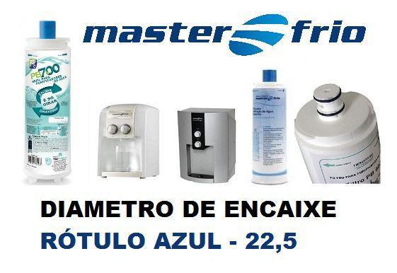 Imagem de Filtro Refil Masterfrio Purificador Rotulo Azul Encaixe 22,5