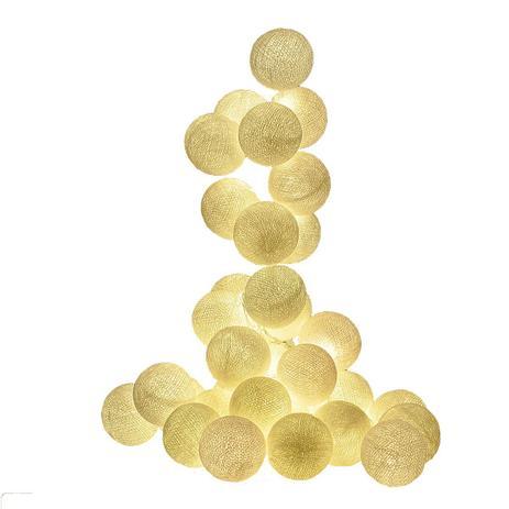 e79ad46f6 Fio de Luz LED CORMILU branco Aspen 20 bolas À Pilha - Cordão de Luz ...