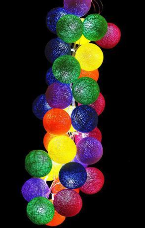 Imagem de Fio de Luz LED CORMILU Cores Vibrantes Berlim 20 bolas À Pilha